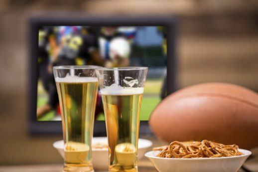 football, gameday, watching football, decorating tips for football party